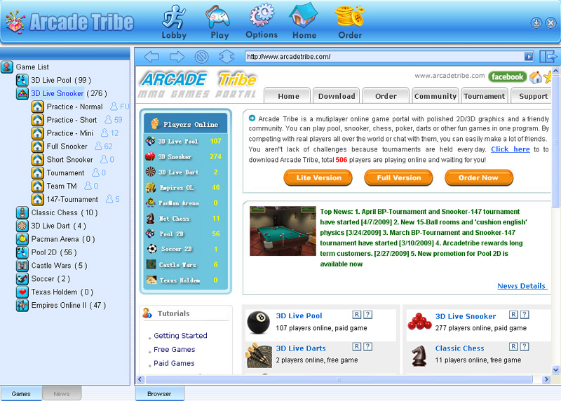 ArcadeTribe is a mutiplayer online game.