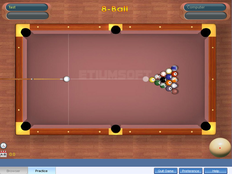 It is a mutiplayer online pool game.