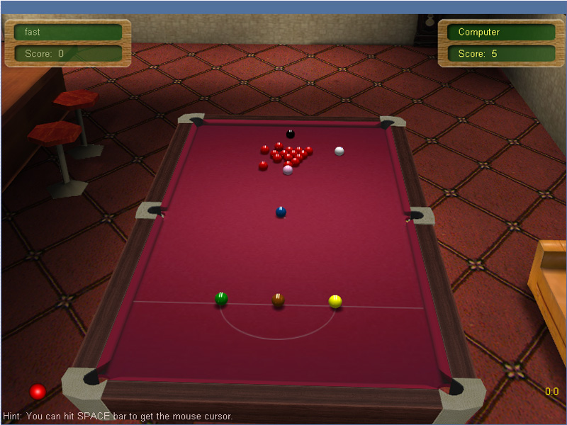 It is a mutiplayer online snooker game.
